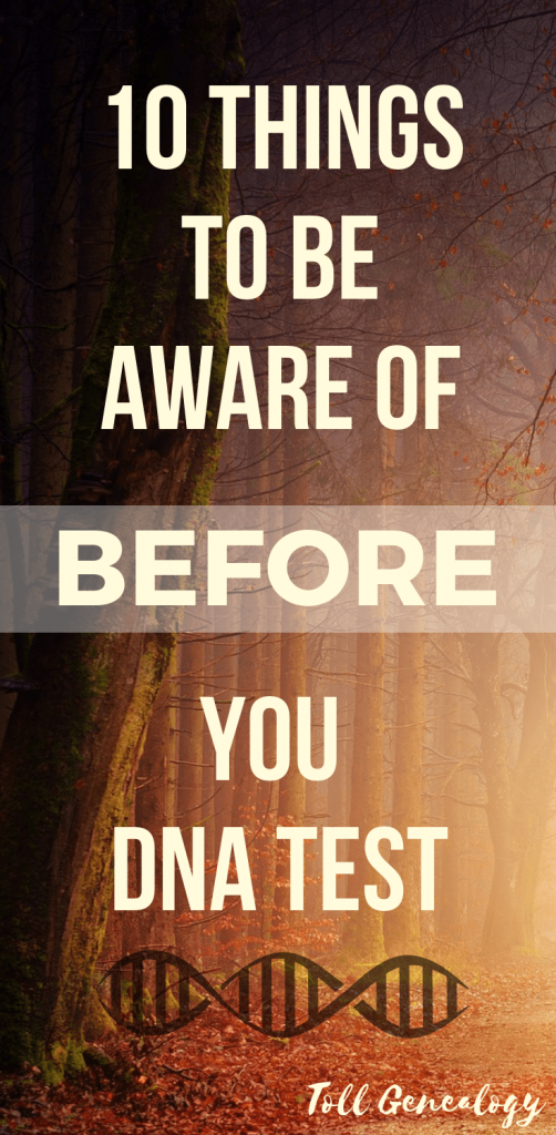 10 things to be aware of before you DNA test
