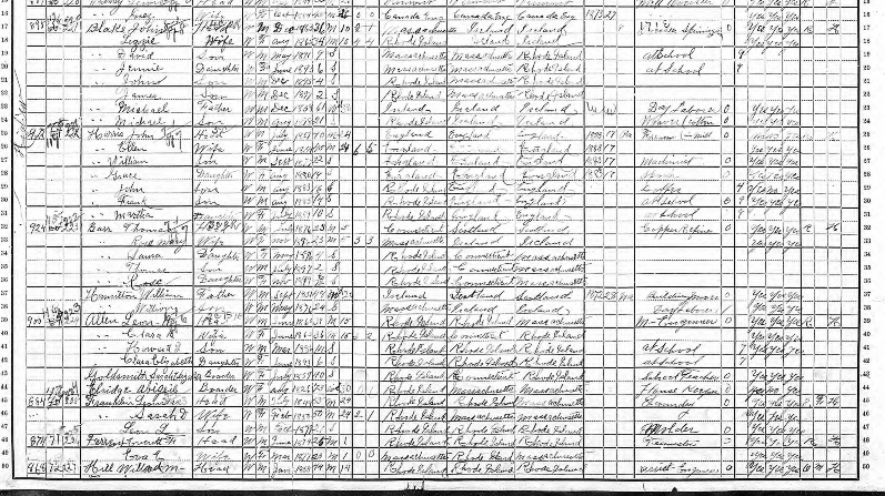 Thomas Barr on the 1900 census