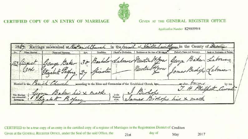 example of a marriage certificate